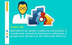 Portaria credencia municípios a receberem incentivos financeiros referentes à gerência de Atenção Primária