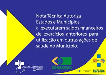You are currently viewing Nota Técnica Autoriza execução financeira de saldos sobre exercicios anteriores.